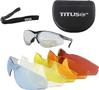 Titus Premium G Series Multi-Lens Safety Glasses Bundle - Professional Range Glasses, 9 Piece Kit