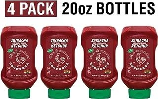 Huy Fong Sriracha Hot Chili Sauce Ketchup, 20oz Bottles (Pack of 4)