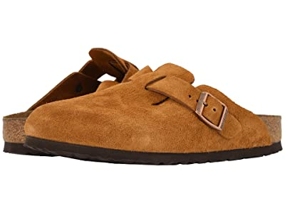 Birkenstock Boston Soft Footbed (Unisex) (Mink Suede) Clog Shoes