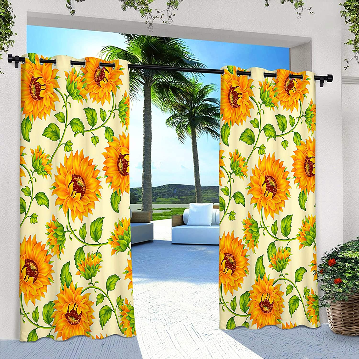 ANHOPE Outdoor Curtains for Patio Ranking TOP10 Cur Waterproof Window Popular products Groment