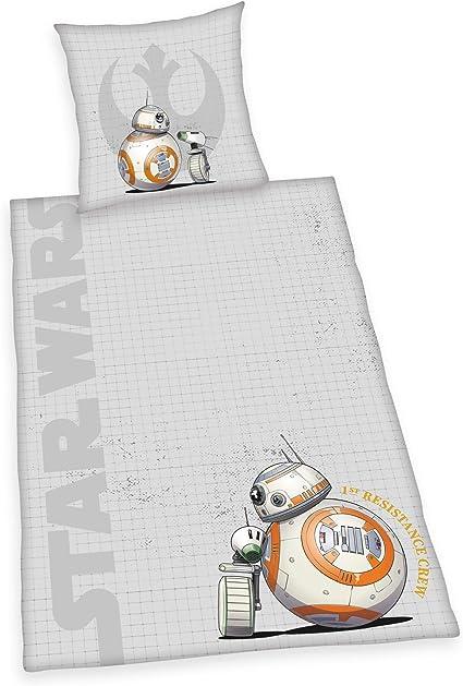 135 x 200 cm Herding Star Wars 9 Juego de Cama 80 x 80 cm algod/ón Gris