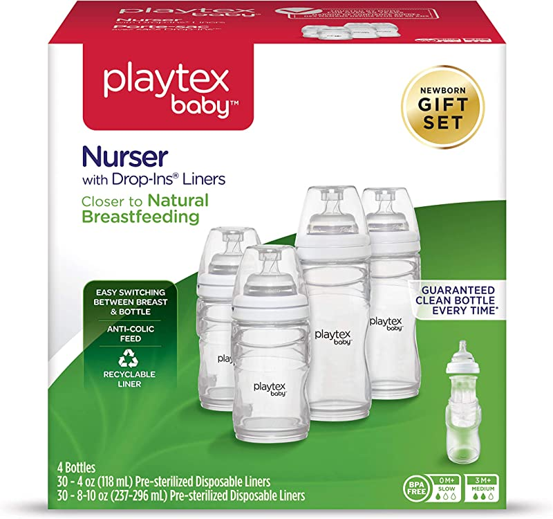 Playtex Baby Nurser Gift Set Includes Anti Colic Feeding Essentials To Meet Your Baby S Growing Needs