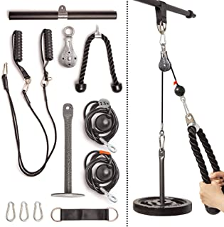 Fitty Max Fitness Cable Pulley System Gym. at Home Cable...