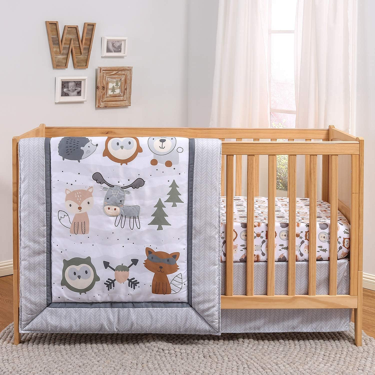 Cheap mail order shopping The Peanutshell Woodland Walk Crib Bedding for or Set Boys New color Girls