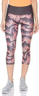 Under Armour Women's UA Hg Armour Capri Print Leggings, Orange (Peach Plasma/Jet Grey/Metallic Silver), Small