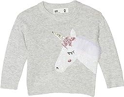 Silver Marle/Sequin Unicorn Fringe