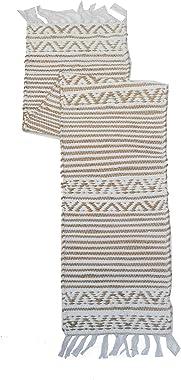 "Chardin home- Carmel: Eco Friendly Cotton/Jute Table Runner, Size: 13""x72"""