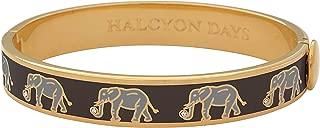 Elephant Motif Black & Gold Bangle #HBELE0210G