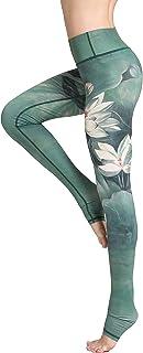 Pantalón Deportivo de Mujer,Yoga de Cintura Alta,elásticos y Transpirables para Mujer,Impresión de Fitness Gym Yoga Pantalon