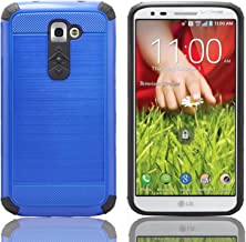 LG G2,iSee Case (TM) LG G2 Case Luxury Tuff Super Armor Hybrid Dual Layer Protective Cover for T-Mobile AT&T Sprint LG G2 (G2-Tuff Armor Blue)