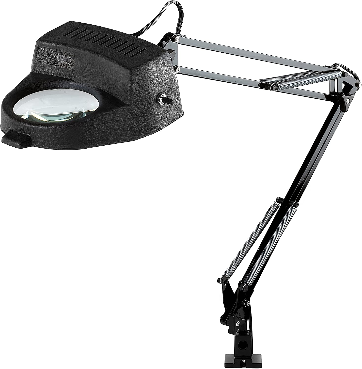 Electrix 7268 BLACK Magnifier Lamp, Incandescent, Clampon Mounting, 3Diopter, 33  Reach, 60W