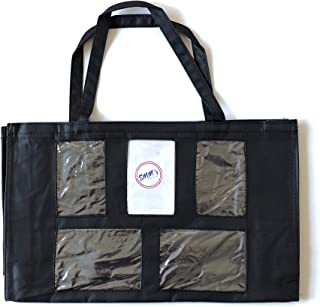 Display Tote Bag Clear Pockets | Photo Tote Bag with Clear Pockets | Bling Bag for Jewelry Display Tote | Display Bags for Direct Sales 18 x 11 x 3 in
