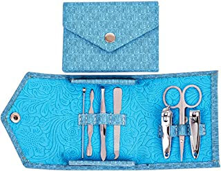 MIOIM 爪切り 人気 爪きりセット 高級のステンレス鋼製 ネイル道具 7本セット 収納ケース付き ネイルケアセット ニッパー型爪切り 甘皮対応 手用 足用