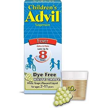 Children's Advil Liquid Pain Relief Medicine and Fever Reducer, 100 Mg Children's Ibuprofen for Ages 2-11, White Grape - 4 Fl Oz