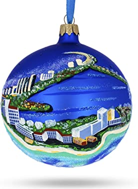 BestPysanky Cancun, Mexico Glass Ball Christmas Ornament 4 Inches