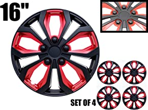 16 inch Hubcaps Black & Red SPA 16