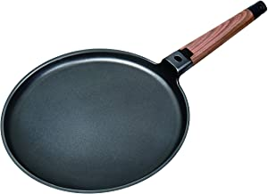 "MasterPan MP-143 Designer Series Non-Stick Cast Aluminum Crepe Pan with Detachable Handle, 11"", Black"