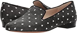 Black/White Polka Dot Raffia