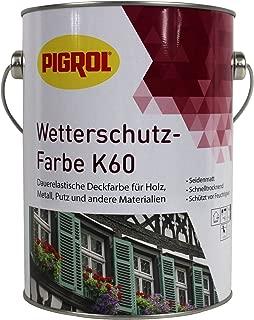 Pigrol Wetterschutzfarbe K60-2,5L - dunkelbraun Holzfarbe Deckfarbe