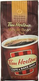 Tim Horton's 100% Arabica Medium Roast, Original Blend, Whole Bean Coffee, 12 Ounce
