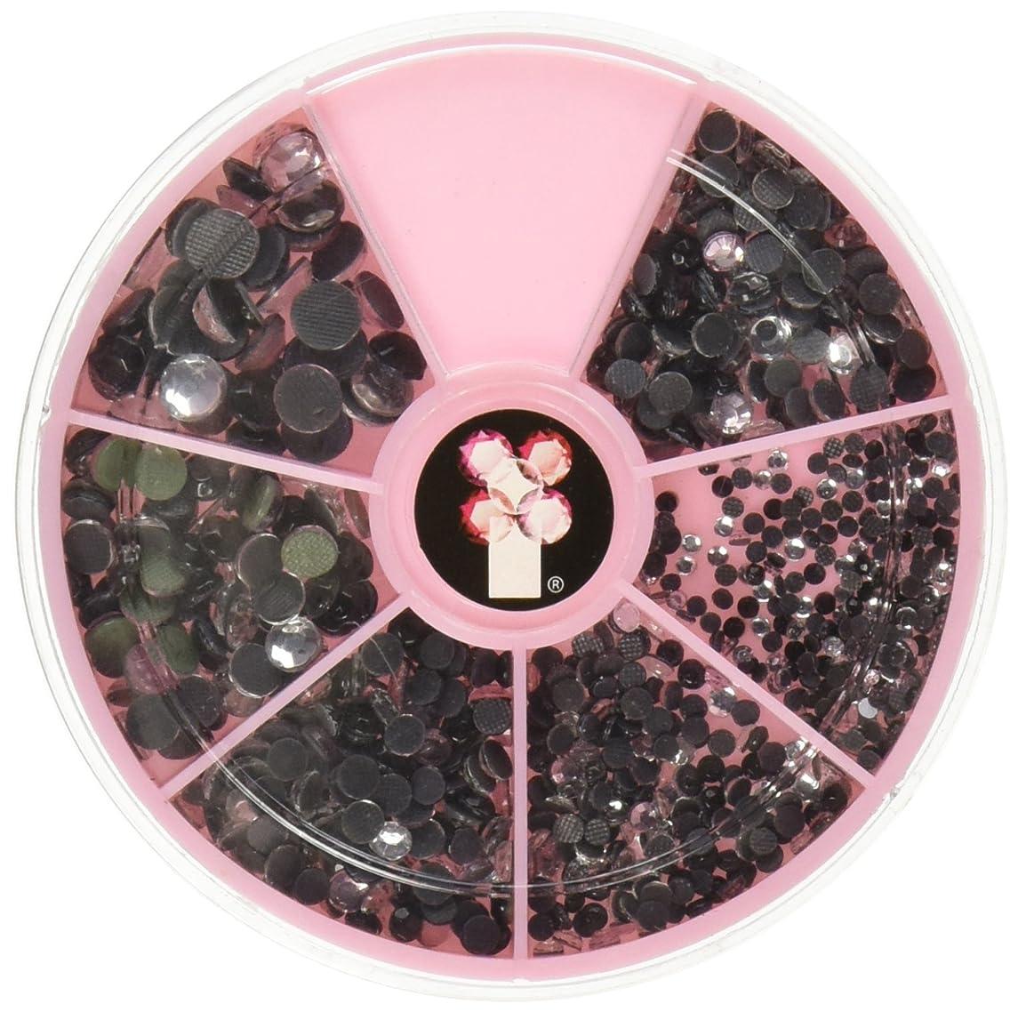 Imaginisce IR002268 I-Rock Hot Rocks Adhesive Gems, 2.3 mm x 6 mm, Pink/Black/Clear