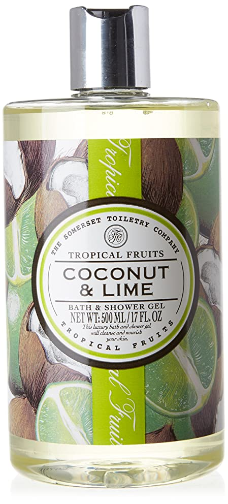 過激派応用姿を消すTropical Fruits Coconut & Lime Bath & Shower Gel 500ml