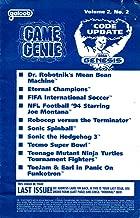 sega genesis game genie manual