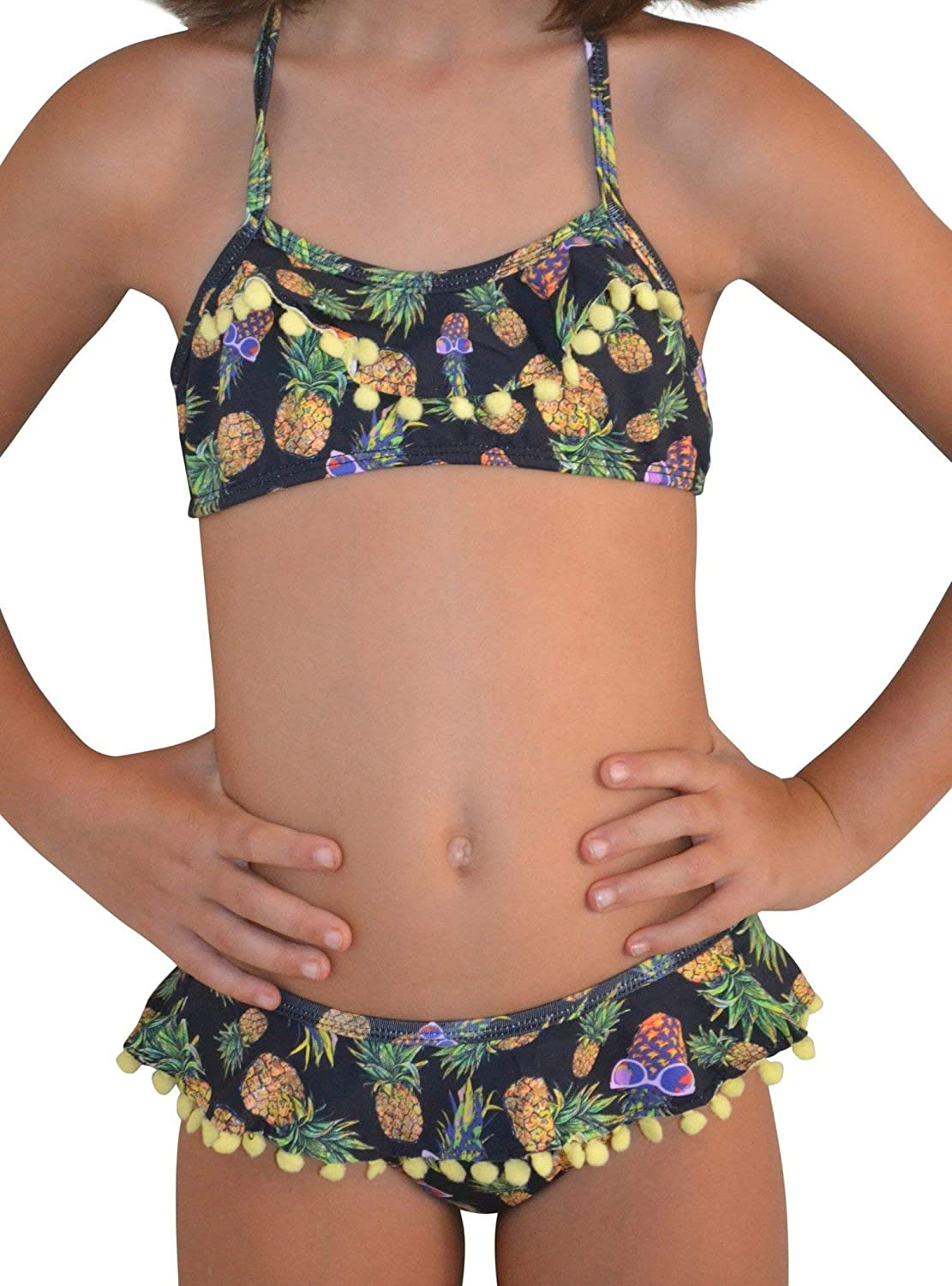 Pineapple in Sunglasses Two-Piece Swimsuit