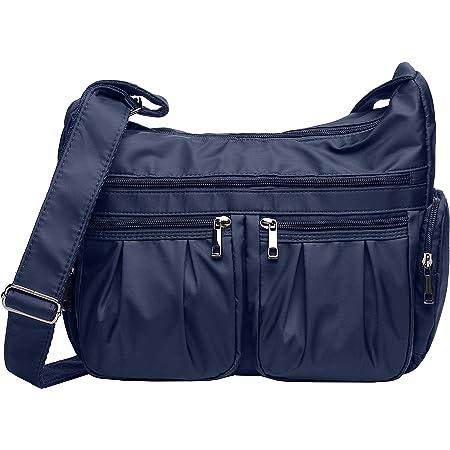 VOLGANIK ROCK Umhängetasche Damen Groß Kapazität Handtasche RFID Leichte Nylon Schultertasche Tasche Damen Reisetasche Einkaufstasche