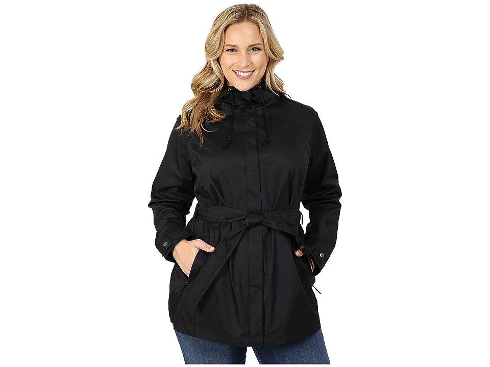 Columbia Plus Size Pardon My Trenchtm Rain Jacket (Black) Women