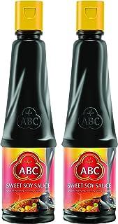 ABC Sweet Soy Sauce, Marinade Dip Stir BBQ, Black Dark Soy Vegan, 20.2 Fl. Oz 600 ml (Pack of 2)