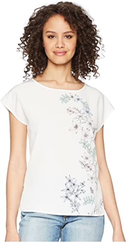Vince Camuto - Extend Shoulder Botanical Floral Print Blouse