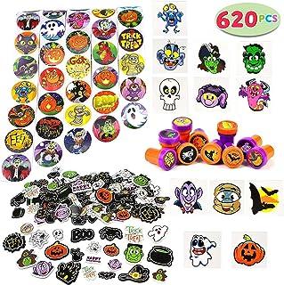 JOYIN Over 600 Pieces Halloween Craft Assortment Kit Including Halloween Temporary Tattoos Halloween Stickers, Halloween S...