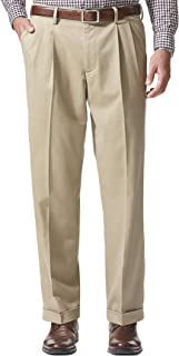 Dockers Men's Relaxed Fit Comfort Khaki Pleated Pants D4