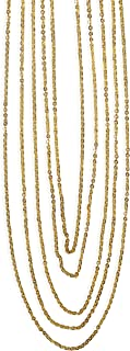 HTSF Beige Crystal Chain for Women