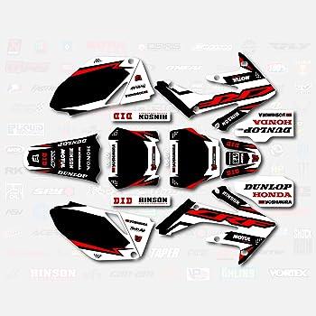 Red /& Blue Shift Graphics Kit fits 04-05 Honda Crf250R CRF 250 250R Shroud Decal