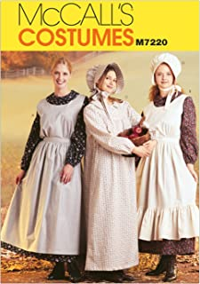 McCall's Costumes M7220, Women's Pioneer Costume Dress Sewing Pattern, Medium