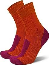 Merino Wool Light Hiking Socks for Men, Women & Kids, Lightweight, Trekking, Outdoor, Cushioned, Breathable, 1 Pack