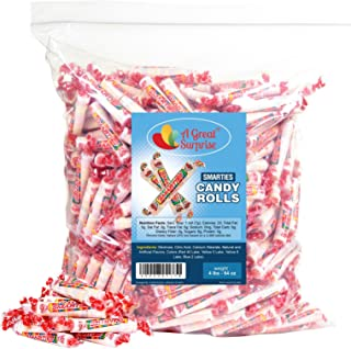 Smarties Candy Rolls Bulk - Red Candy - Original Flavor, 4LB Party Bag, Approx 230 Pieces, Bulk Candy, Family Size