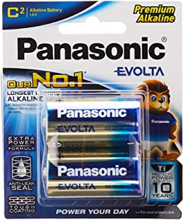 Panasonic C-Size Evolta Batteries, 2 Pack