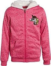 Coney Island Girls Sequin Sherpa-Lined Full-Zip Up Sweatshirt Hoodie