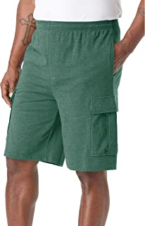 KingSize Men's Big & Tall Lightweight Jersey Cargo Shorts