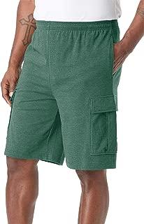 KingSize Mens Big /& Tall 12 Side Elastic Cargo Short with Twill Belt