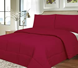 Sweet Home Collection Down Alternative Polyester Comforter Box Stitch Microfiber Bedding - Twin, Burgundy