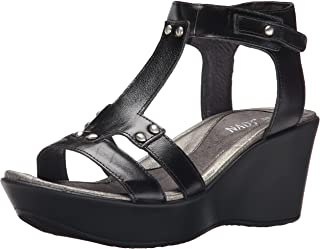 Naot Women's Flirt Wedge Sandal, Black Madras, 42 EU/10.5-11 M US