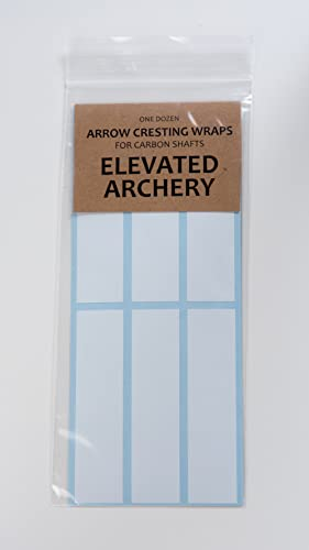 "Elevated Archery 4"" Arrow Cresting Wraps for Carbon Shafts Pack of 12"