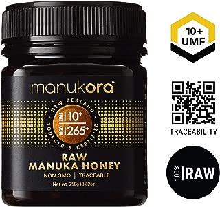 Manukora UMF 10+/MGO 265+ Raw Mānuka Honey (250g/8.8oz) Authentic Non-GMO New Zealand Honey, UMF & MGO Certified, Traceable from Hive to Hand …