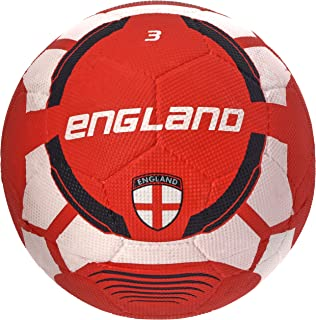 Vector X England Rubber Moulded Football, Size 3 (White/Maroon)