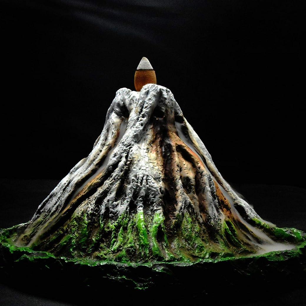 カールテレビ大混乱PHILOGOD 逆流香炉 樹脂プロセス手塗り富士山香炉 お香 香皿ホルダー ホームデコレーション香置物 香立て