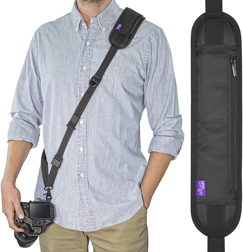Multicamera photographer Strap pattern Comfortable shoulder strap to relieve neck strain Easy to do at home For your best shots.